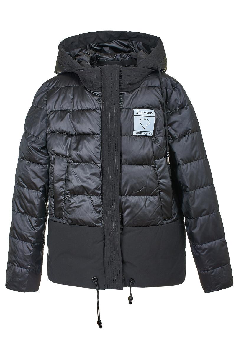 Демисезонная женская куртка черного цвета, 290731