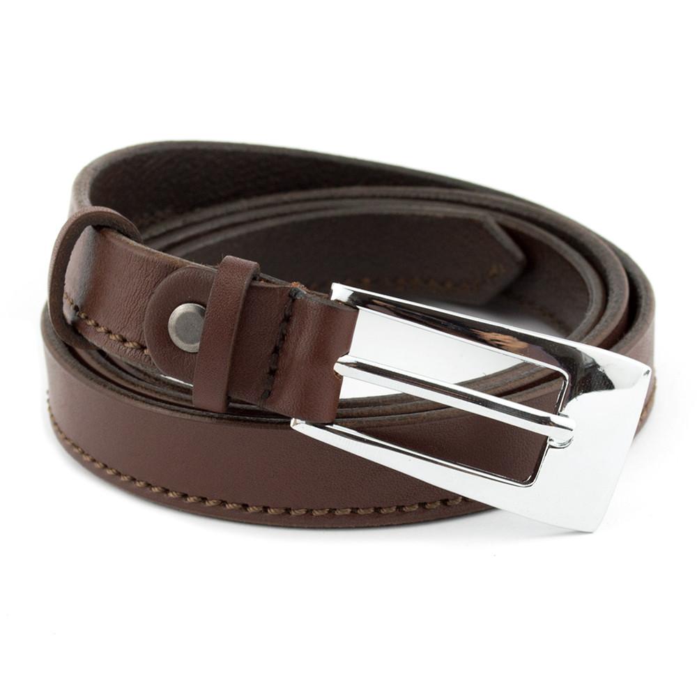 Женский кожаный ремень KB-20-01 brown (120 см)