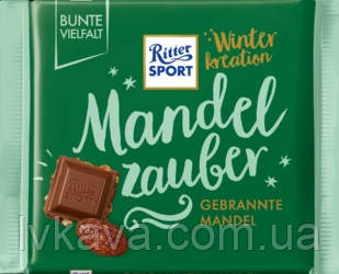 Молочный шоколад  Ritter Sport Mandel Zauber Winter kreation, 100 гр, фото 2