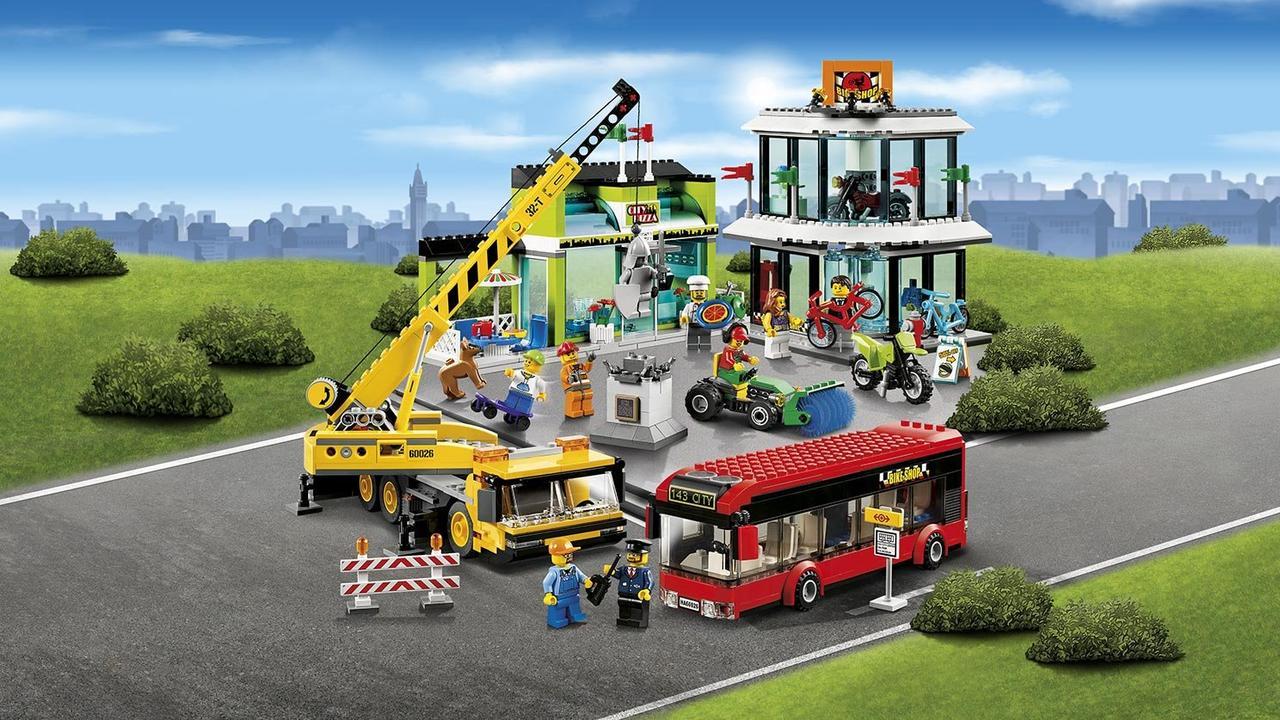 картинки лего города с машинами располагает