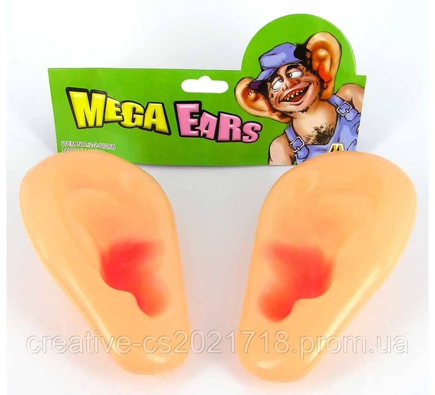 Уши большие резиновые 9*15*6 см.