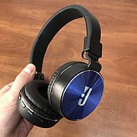 Накладные беспроводные bluetooth наушники JBL md 750 bt Wireless сине-черные, фото 1
