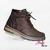Мужские зимние ботинки из коричневой кожи