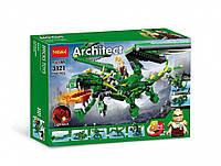 Конструктор Decool Architect Зеленый дракон 8в1 598 деталей.