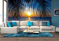 Фотообои Закат среди пальм