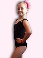 Купальник гимнастический эластик черный Rivage Line 308B