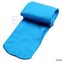 Яркие голубые колготы на девочку рост 90-165 см