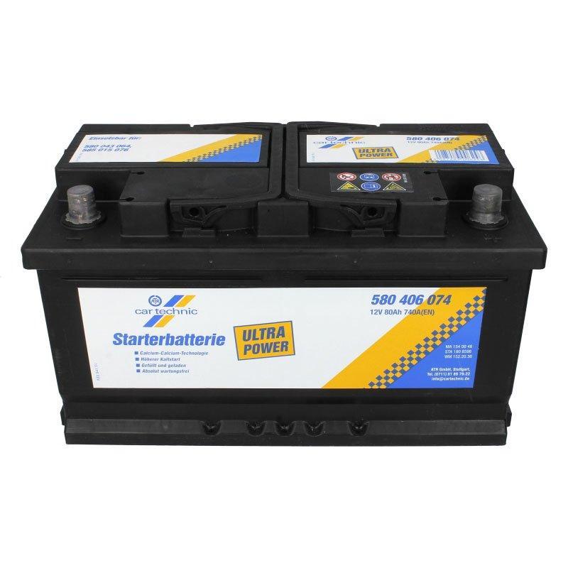 Cartechnic 6СТ-80 АзЕ CART580406074 Автомобильный аккумулятор