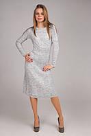 Женское осеннее платье в вертикальные полосы и косы , фото 1