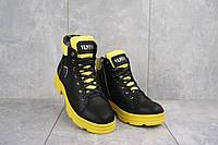 Женские ботинки кожаные зимние черные-желтий BENZ 71205, фото 1