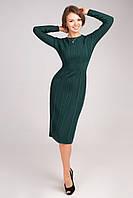 Стильное женское вязанное платье  с длинным рукавом