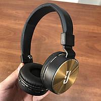 Накладные беспроводные bluetooth наушники JBL md 750 bt Wireless черно-золотые, фото 1