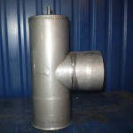 Тройник из нержавейки 87, диаметр 150 мм