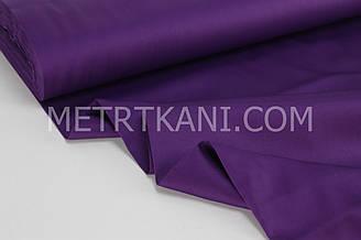 Сатин  чернильно-фиолетового цвета   ширина 240 см № ПС-0012