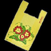 """Пакет майка """"Цветы"""" 29*45 (100шт/1уп)"""