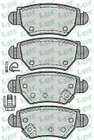 Задние тормозные колодки  Opel Astra G 98-04/Zafira