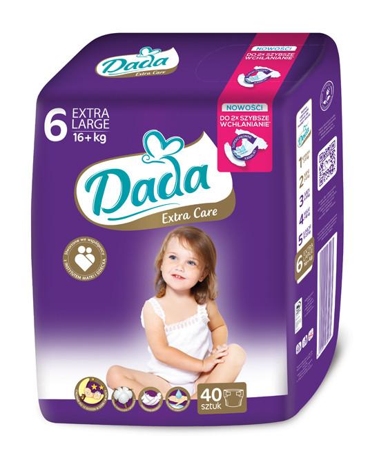 Подгузники Dada Extra Care 6 (16+кг), 40шт