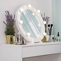 Рабочее место визажиста( 1600/1000/450 мм),столик для макияжа, стол для макияжа с подсветкой.
