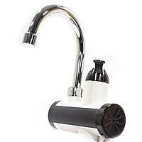 Проточный кран-водонагреватель с душем GZU ZM-D16 LCD дисплеем 3000 Вт Черно-белый (2921-8855)