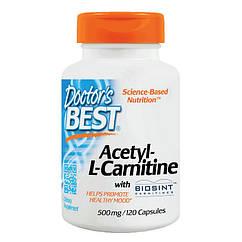 Ацетил Л-карнитин Doctor's BEST Acetyl-L-Carnitine (120 капс) доктор бест