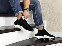 Мужские кроссовки Adidas Y-3 Kaiwa черно белые / кроссовки мужские Адидас