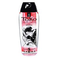 Лубрикант на водной основе Shunga Toko AROMA - Blazing Сherry - вкус пылающей вишни (165 мл) для орального и вагинального секса (Шунга, Сюнга).