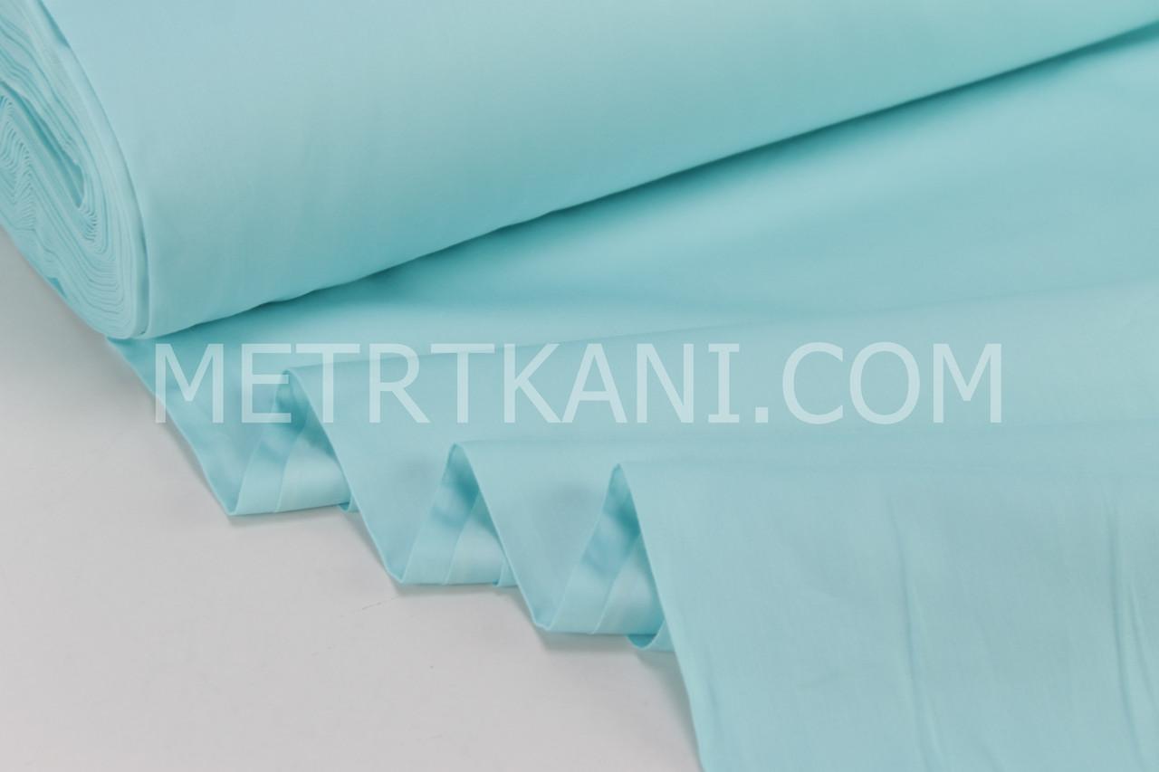 Сатин премиум мятно-бирюзового цвета ширина 240 см № ПС-0060
