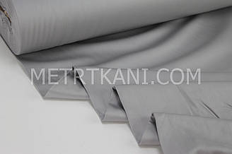 Сатин премиум серого цвета ширина 240 см № ПС-0050