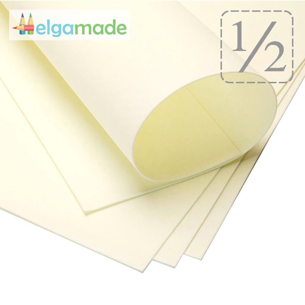 Фоамиран СЛОНОВАЯ КОСТЬ, 1/2 листа, 30x70 см, 0.8-1.2 мм, Иран