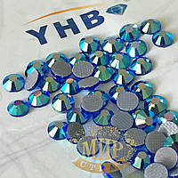 Стразы YHB Lux, цвет Sapphire AB, HF, ss16 (3,8-4мм), 100шт