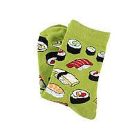 Высокие женские носочки с принтом Суши, фото 2