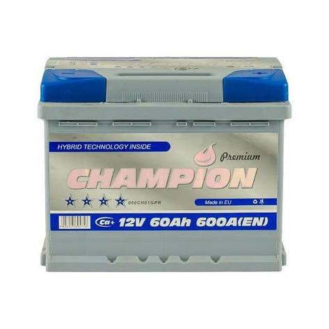 Champion 6СТ-60 АзЕ Premium CHGP60-0 Автомобильный аккумулятор, фото 2