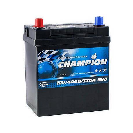 Champion 6СТ-40 Аз Japan Black CHBJ40-1 Автомобильный аккумулятор, фото 2