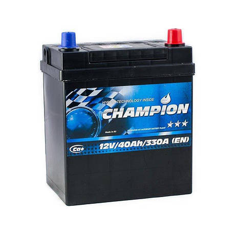 Champion 6СТ-40 АзЕ Japan Black CHBJ40-0 Автомобильный аккумулятор, фото 2