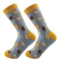 Высокие мужские носки с принтом Яиц, фото 5