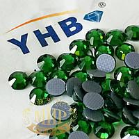 Стразы YHB Lux, цвет Fern Green, HF, ss16 (3,8-4мм), 100шт
