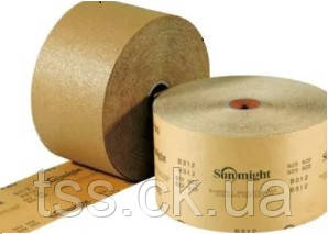 Абразивная бумага SUNMIGHT (желтая) в рулонах для сухой шлифовки 115мм x 50м, P60
