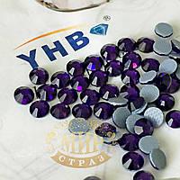 Стразы YHB Lux, цвет Purple Velvet, HF, ss16 (3,8-4мм), 100шт