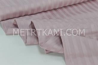 Страйп сатин грязно-розового цвета полоска 1*1 см  ширина 240 см № VS-22211
