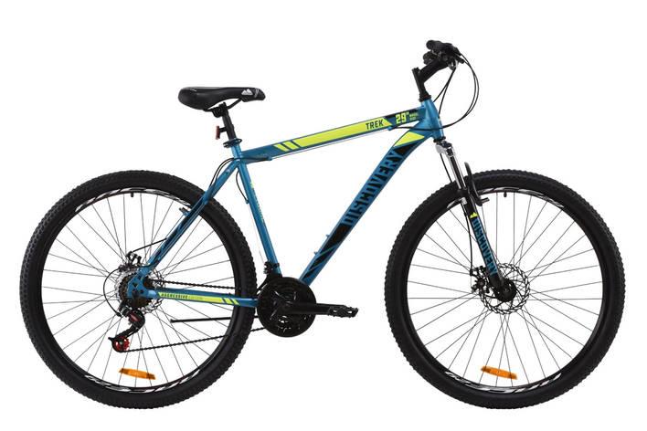 "Велосипед ST 29"" Discovery TREK AM DD 2020 (малахитовый с желтым (м)), фото 2"