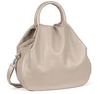 Кожаная женская сумка, цвет капучино