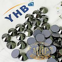 Стразы YHB Lux, цвет Jet Hematite, HF, ss20 (4,8-5мм), 100шт