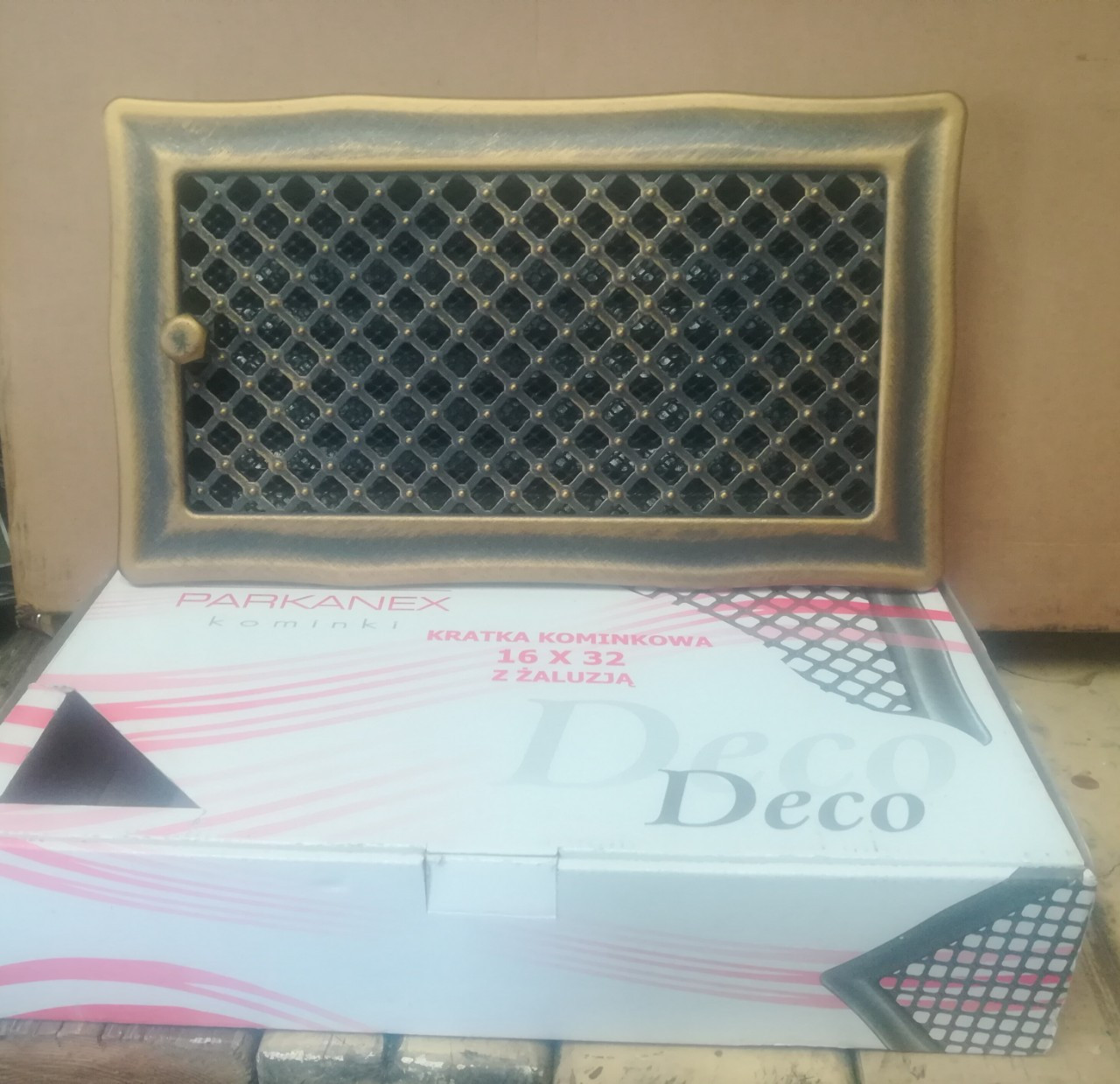 Решетка«Парканекс» Деко 16x32 с жалюзи бронза