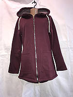 """Кардиган женский на флисе с капюшоном, размеры 42-50 (4цв) """"QUEST"""" купить недорого от прямого поставщика, фото 1"""