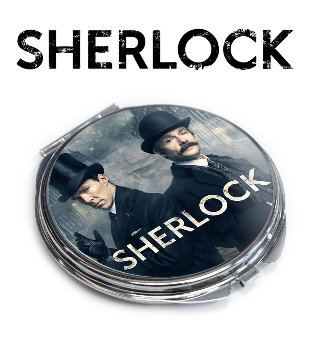 Карманное зеркальце Шерлок и Ватсон / Sherlock