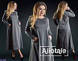 Стильное платье  (размеры 48-54) 0212-44, фото 2