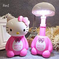 Детская настольная лампа на аккумуляторе LED Hello Kitty