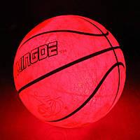 Мяч баскетбольный с LED Подсветкой Jymindge 7 размер, фото 1