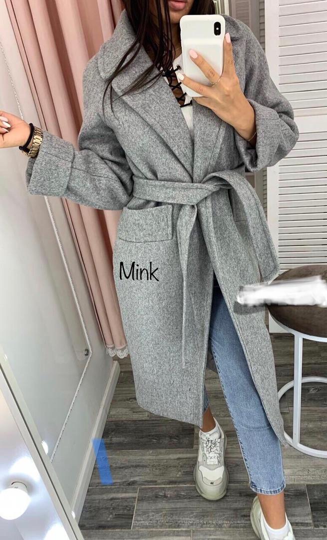 Пальто женское кашемировое утепленное, на подкладке, на синтепоне 150, на запах, стильное, модное, молодежное, фото 1