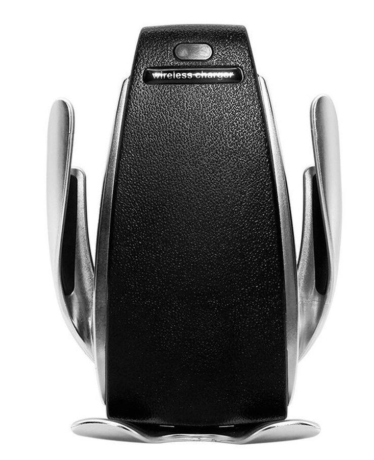 Автодержатель для телефона WUW W08 Smart sensor Wireless Charger + Беспроводная зарядка Серебристый (WUW